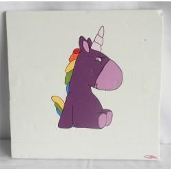 Toilenbois - Violette la licorne 30x30 cm